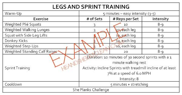 killer leg day workout chart