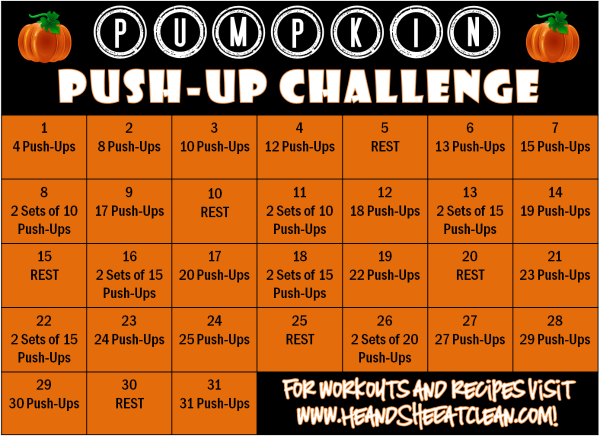pumpkin push-up challenge chart