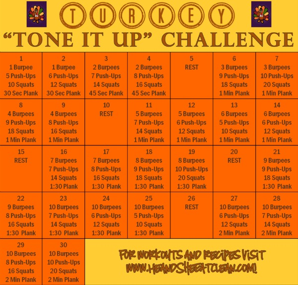 turkey tone it up fitness challenge