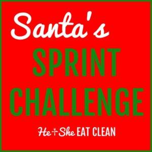 text reads santa's sprint challenge