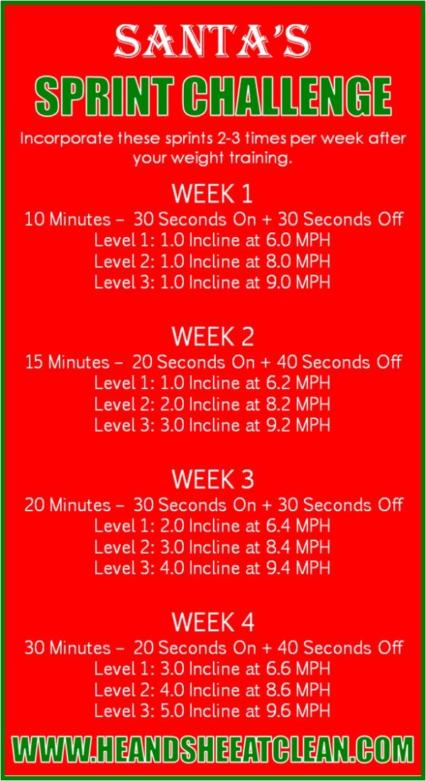 Santa's Sprint Challenge cardio workout