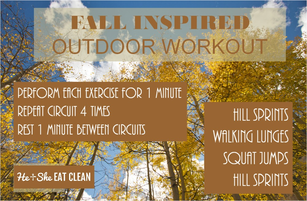 fall inspired outdoor workout listed