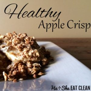 apple crisp on a beige plate