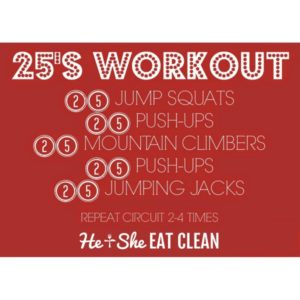 25s workout circuit
