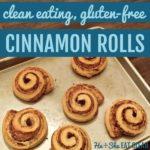 cinnamon rolls on a cookie sheet