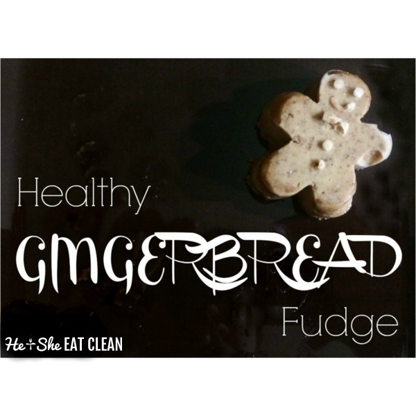 one piece of fudge in the shape of a gingerbread man