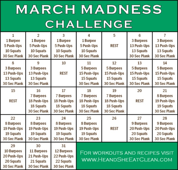Full Body Workout: March Madness Fitness Challenge