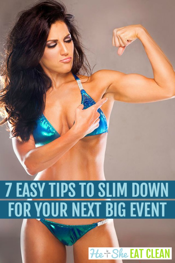 7 easy tips to slim down before your next big event