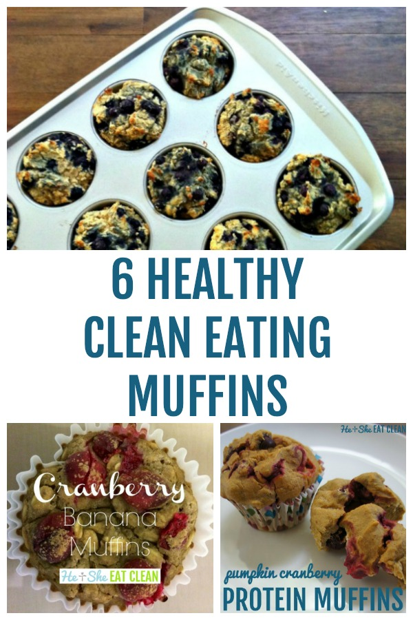 collage of healthy muffin recipes