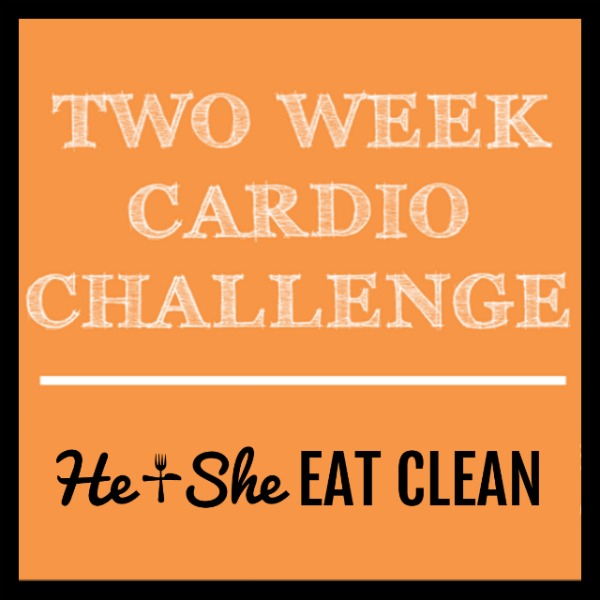 text reads two week cardio challenge square