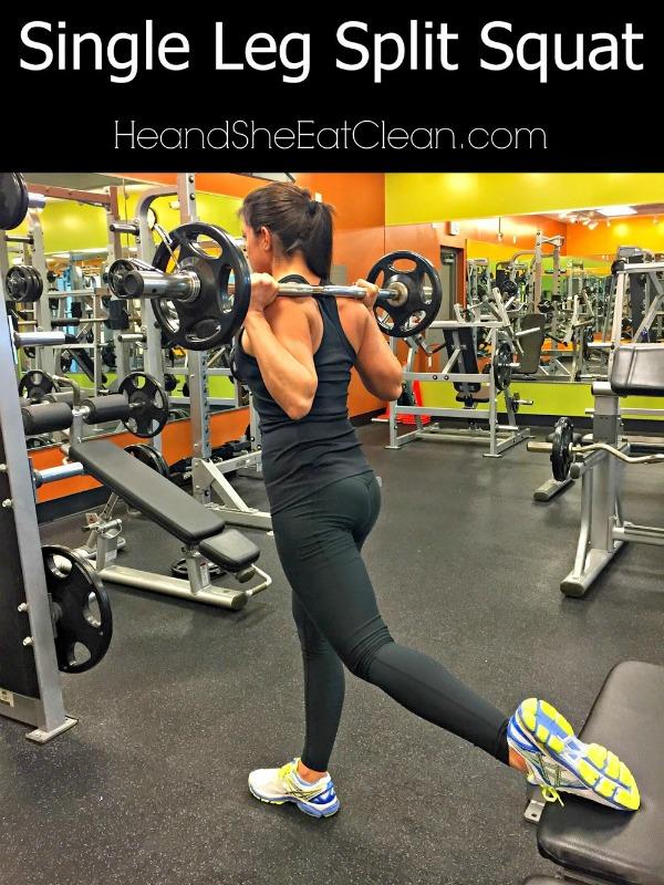 woman doing a single leg split squat