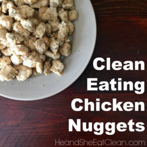 clean eating chicken nuggets square image