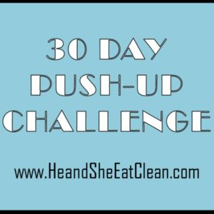 text reads 30 day push-up challenge