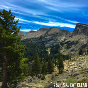 picture of mountains with trees and blue sky: Ten Lakes Basin in Yosemite National Park