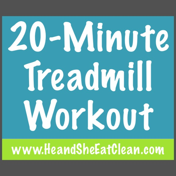 20 Minute Treadmill Workout square image