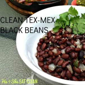 white bowl with black beans and cilantro on top