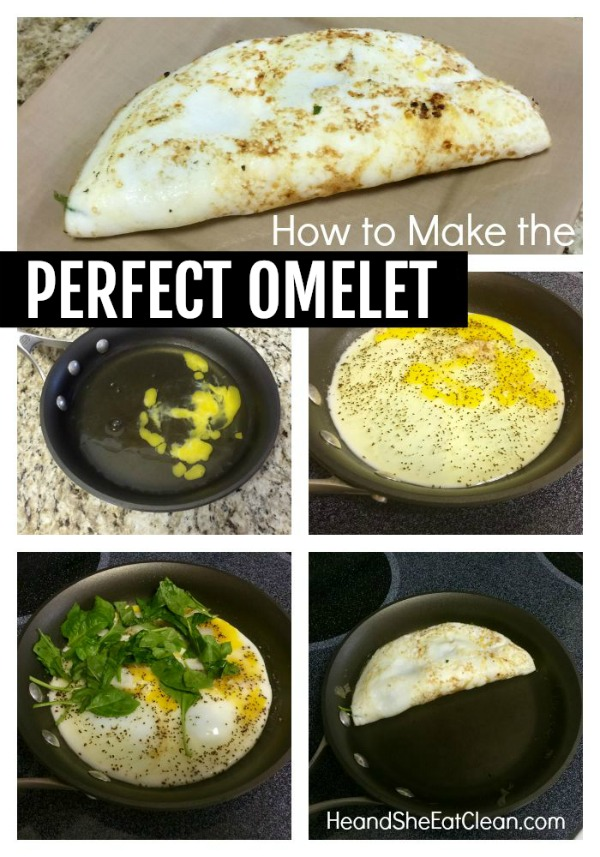 collage of photos on how to make the perfect omelet