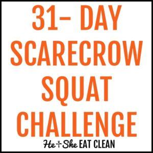 31-day scarecrow squat challenge