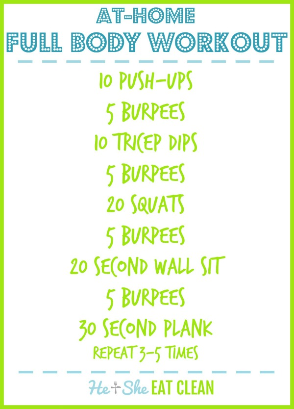 text reads at-home full body workout - workout listed