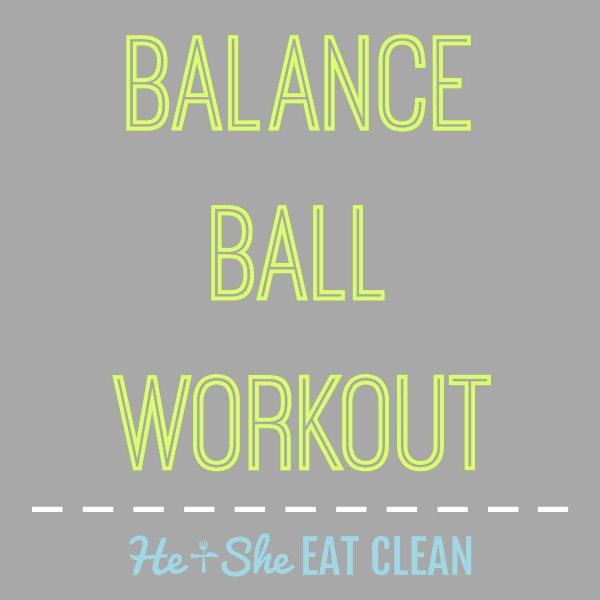 text reads balance ball workout