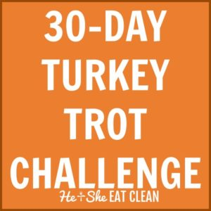 text reads 30 day turkey trot challenge