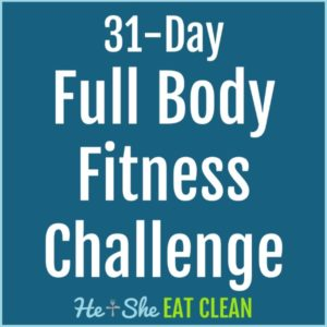 text reads 31-day full body fitness challenge