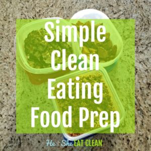 3 containers of clean eating food prep