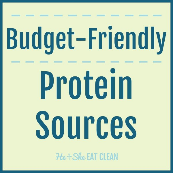 text reads budget-friendly protein sources