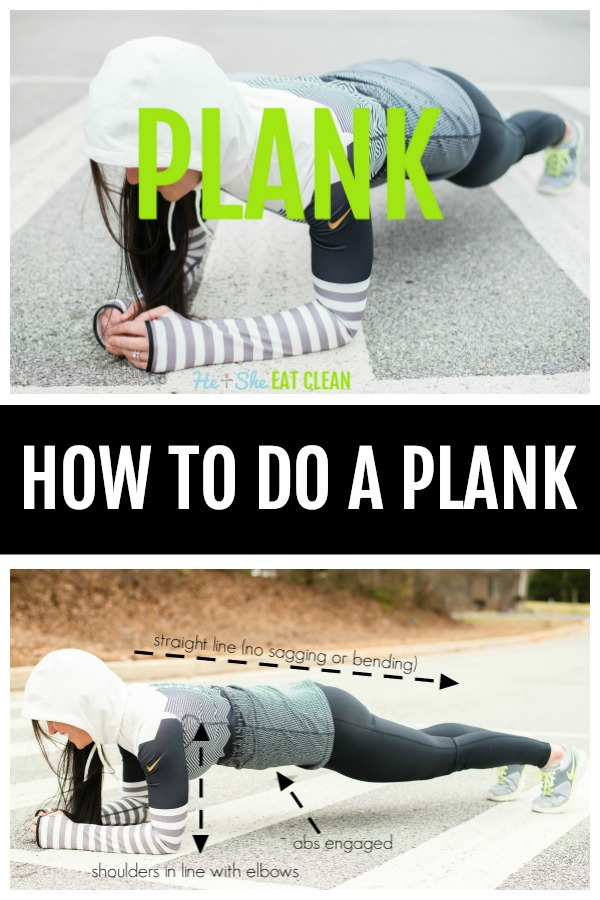 female doing a plank in the street with text that reads how to do a plank