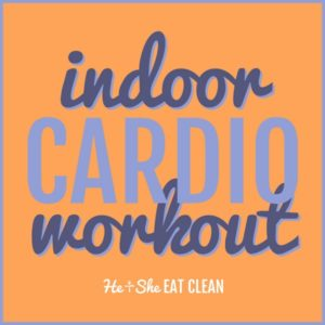 text reads indoor cardio workout