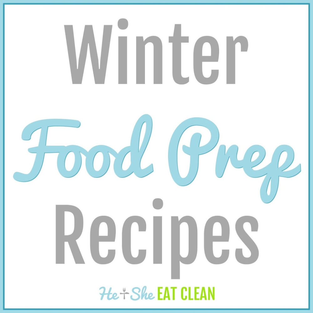 text reads winter food prep recipes