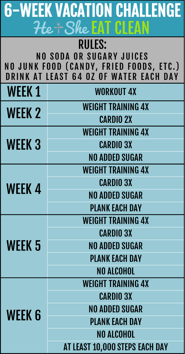six week vacation challenge