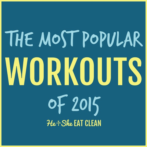 text reads the most popular workouts of 2015