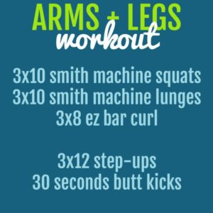arms & legs workout for women