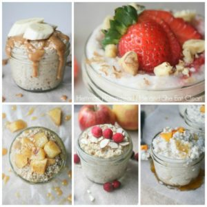 collage of breakfast crockpot recipes