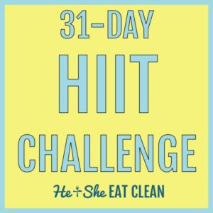 text reads 31-day HIIT challenge