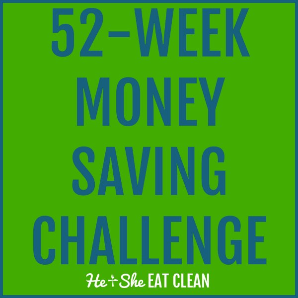 text reads 52 week money saving challenge