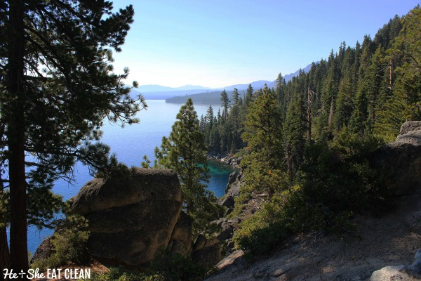 view from Rubicon Trail on Lake Tahoe