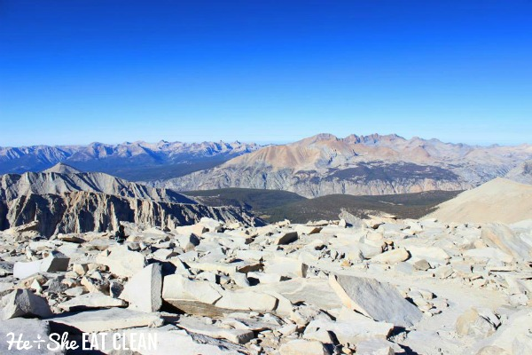 long range mountain view from Mount Whitney in California