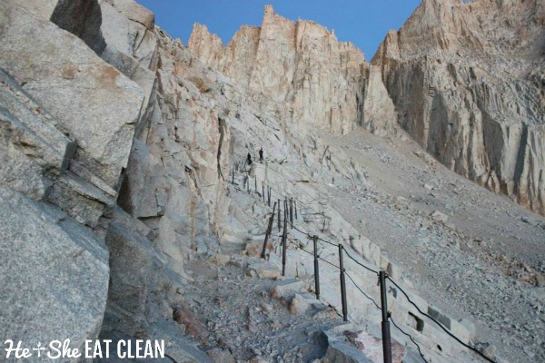 picture of the switchbacks on the Trail Crest to Mount Whitney in California