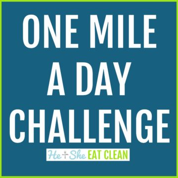 text reads one mile a day challenge
