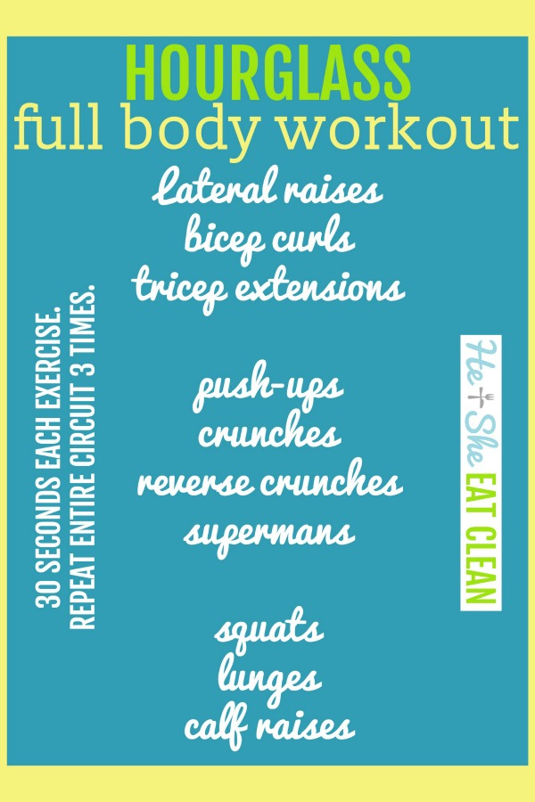 hourglass full body workout listed