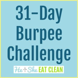 text reads 31 day burpee challenge