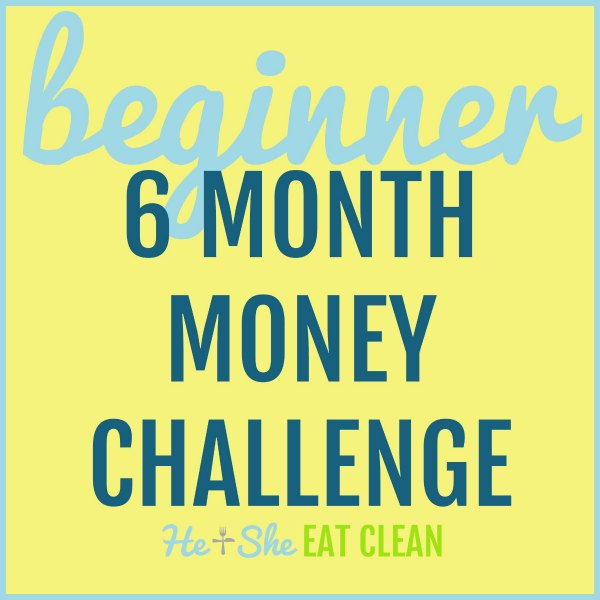 text reads beginner 6 month money challenge