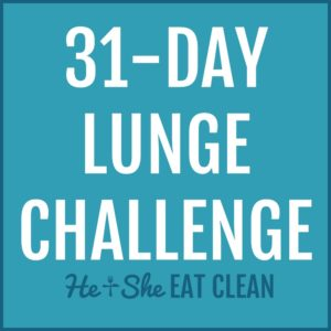 text reads 31-day lunge challenge