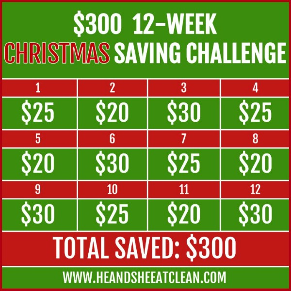 $300 12-Week Christmas Money Saving Challenge square image