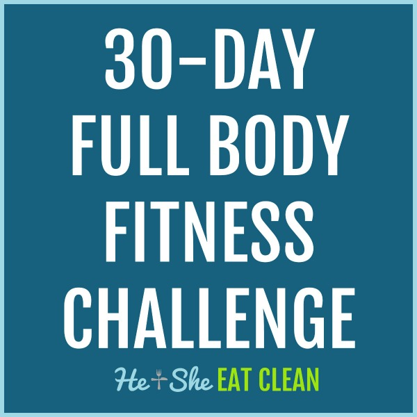 text reads 30 day full body fitness challenge
