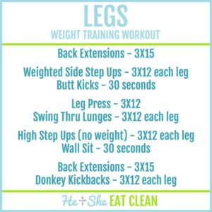 legs weight training workout