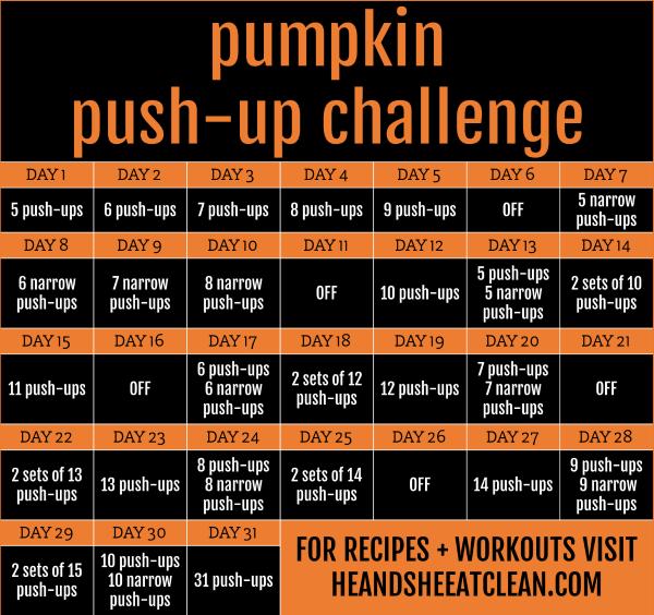 31 day pumpkin push up challenge