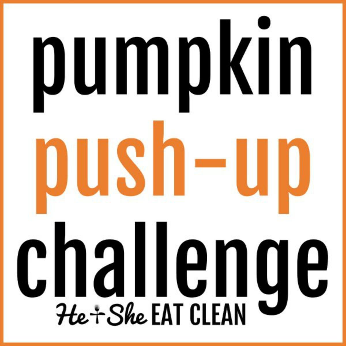 text reads pumpkin push-up challenge